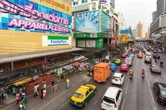 Busy road in Bangkok Royalty Free Stock Photos