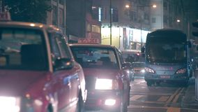 Busy Road in Downtown of Hong Kong stock video footage