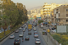 A busy road in Lebanon Stock Photo