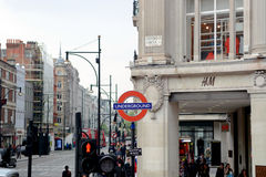 Busy road at Oxford Circus Stock Images