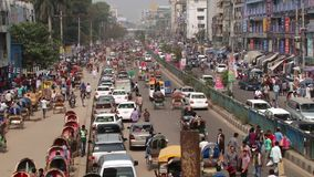 Busy road traffic at the central part of the city on February 22, 2014 in Dhaka, Bangladesh.