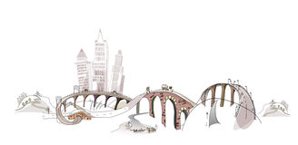 Busy roads illustration City collection, transportation vector illustration