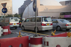 Busy Salisbury Road in Hong Kong Royalty Free Stock Images