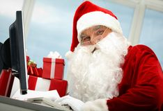 Busy Santa Royalty Free Stock Image