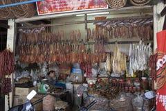 A busy scene of market vendor in Siem Reap Market Stock Photos