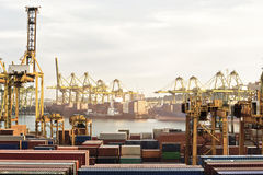 Busy Seaport Royalty Free Stock Photos