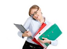 Busy secretary Royalty Free Stock Images