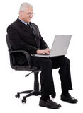 Busy senior business man Royalty Free Stock Image