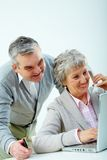 Busy seniors Royalty Free Stock Image