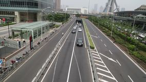 Busy  Shanghai traffic video stock video footage