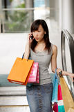 Busy Shopper stock image