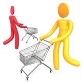 Busy Shopper Icon Symbol Stock Image