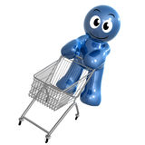 Busy shopper icon symbol Stock Image