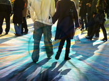 Busy shoppers. Abstract illustration of busy high street shoppers Royalty Free Stock Photos
