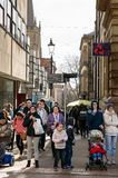 Busy shoppers Exchange Walk Nottingham Royalty Free Stock Image