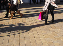 Busy shopping stock photo