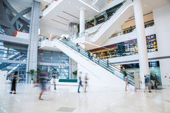 Busy shopping mall Stock Image