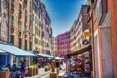 Busy Shopping Street in Ajaccio - Corsica, France