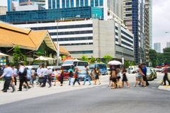 Busy Singapore people Royalty Free Stock Images