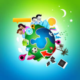 Busy Social Planet Stock Image