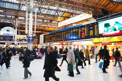 Busy station full of people Royalty Free Stock Image