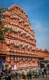 Busy streen in front of Hawa Mahal Stock Photo