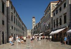 Busy Stradun street , Dubrovnik , Croatia Stock Image