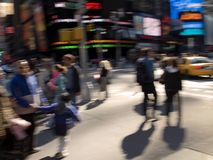 Busy Street. A abstract motion blur of a busy corner in Times Square in Manhattan Royalty Free Stock Images