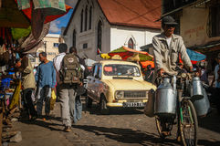 Busy street in Antananarivo Royalty Free Stock Photos