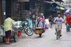 Busy street of Bangkok Stock Photos