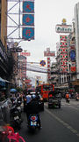 Busy street in Bangkok during the day Stock Photography