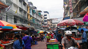 Busy street in Bangkok during the day Royalty Free Stock Photo