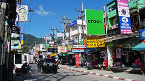 Busy street in Bangkok during the day Stock Image