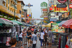 Busy street in Bangkok Thailand Stock Photography