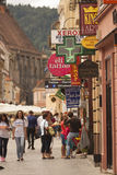 Busy street in Brasov Stock Photography