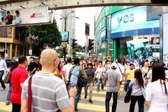 Busy Street of Bukit Bintang, Kuala Lumpur Royalty Free Stock Photography