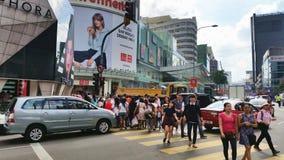Busy Street at Bukit Bintang Kuala Lumpur Stock Images