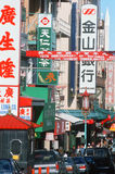 Busy street in Chinatown District, San Francisco, California Royalty Free Stock Image