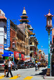 Busy street, Chinatown, San Francisco Royalty Free Stock Image