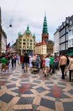 Busy street in Copenhagen, Denmark Royalty Free Stock Image