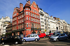 Busy street corner in London royalty free stock image