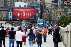 Busy street in Edinburgh, Scotland Stock Image