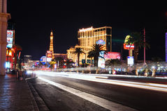 Busy street with Eiffel Tower, Las Vegas Stock Photography