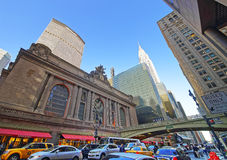 Busy Street at Entrance in Grand Central Terminal Building Royalty Free Stock Photos