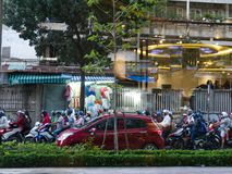 Traffic in Ho Chi Minh City royalty free stock image