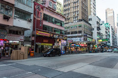 Busy street in Hong Kong downtown Stock Photography