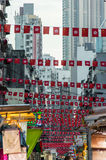 Busy street in Hong Kong downtown Stock Image