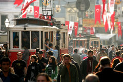Busy street in Istanbul Stock Images