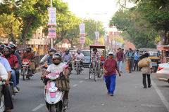 A busy street in Jaipur, India. Stock Images