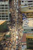Traffic in kampala. Busy street in kampala, seen from the minaret of uganda national mosque Royalty Free Stock Photography
